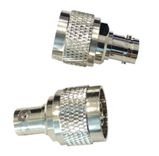 Rf Coaxial Nickel Plated N Male To BNC Female Connector Adaptor 2500V Rms