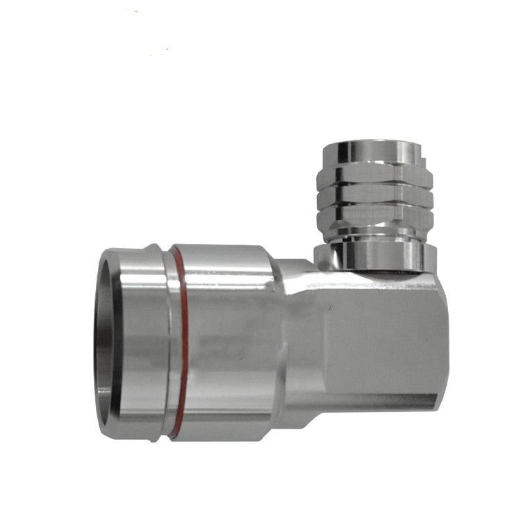 "N Male Right Angle Rf Coaxial Connector For 7/8"" Coaxial Feeder Cable"